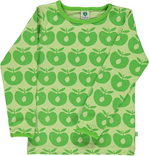 Smafolk Unisex Langarm-Shirt grün mit Äpfeln Größe 110/116