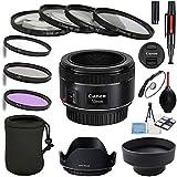 Canon EF 50mm f/1.8 STM Lens with UV, CPL, FLD + Close up kit 1,2,4,10 + Tulip Hood + Collapsible Hood+ Lens Pen + dust Blower + Lens Cap + Starter kit
