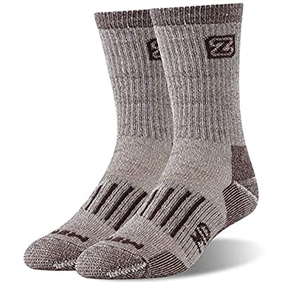 Merino Wool Hiking Socks, ZEALWOOD Thick Heat Trapping Insulated Heated Boot Thermal Socks Warm Winter Crew Socks For Cold Weather Socks Men Women Athletic Camping Trekking Socks Gifts for Women Men