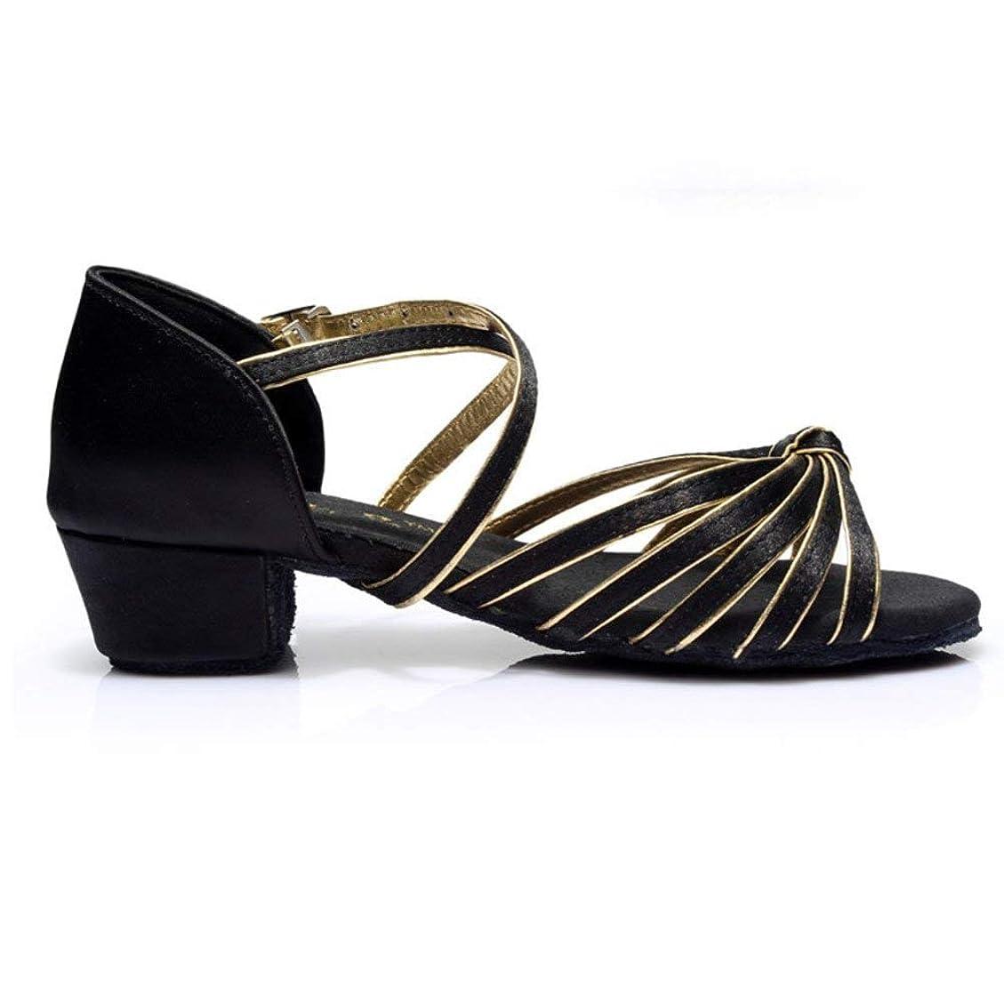 電気的スイングウサギ[Dianyejiancai] 最新の女性ダンスシューズ 女の子ラテンダンスシューズ、子供用ダンスシューズローヒール耐摩耗性サンダル (Color : C, サイズ : Foot length=17.8CM(7Inch))