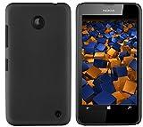 mumbi Hartschale kompatibel mit Nokia Lumia 630 / 635 Handy Hard Hülle Handyhülle, schwarz