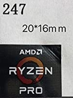 【AMD RYZEN PRO】エンブレムシール 20*16mm