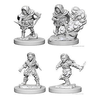 Dungeons & Dragons Nolzur s Marvelous Unpainted Miniatures Bundle  Halfling Male Rogue & Halfling Female Rogue