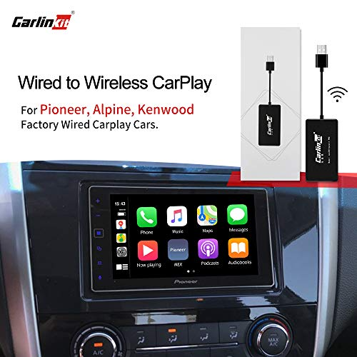 Carlinkit 2.0 Wireless CarPlay Adapter für Werksautos, für Aftermarket-Head-Units Pioneer, Alpine, Kenwood, Konvertierung von Wired in Wireless Carplay, Online-Upgrade-System/Original-Autotaste