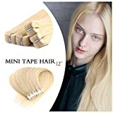 """Neitsi 6A 20pcs 12"""" 25g Straight Double Sided Tape in Hair Extension Human"""