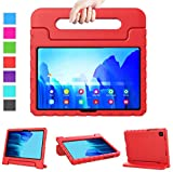 LTROP Kids Case for Samsung Galaxy Tab A7 10.4 2020, Samsung Tab A7 Case, Shock Proof Kids Friendly Handle Stand Cover Case for Galaxy Tab A7 10.4' 2020 (Model SM-T500/ T505/ T505N/ T507), Red
