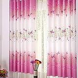 Schmetterling Calico Fenster-/Tür-/Balkon-Vorhang, durchscheinend, 1 Paneel