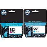 HP 953 F6U13Ae Cartuccia Originale Da 700 Pagine, Compatibile Con Le Stampanti Officejet Pro & 953 F6U12Ae Cartuccia Originale Da 700 Pagine, Compatibile Con Le Stampanti Officejet Pro Serie 8700