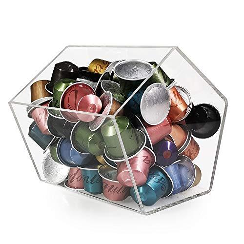 RECAPS Soporte de almacenamiento para bolsas de té de plexiglás compatible con Nespresso Vertuoline para diferentes marcas de cápsulas de café
