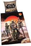Mandalorian Star Wars - Juego de Funda de edredón y Funda de Almohada (135 x 200 cm), diseño de Jedi Luke