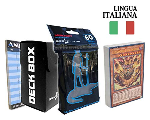 Andycards Deck Leggendario EXODIA di Yugi in Italiano - Mazzo Yugioh + Deck Box God-Player + Sleeves God-Player + Segnapunti