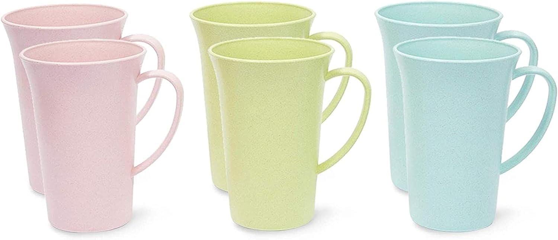 Wheat Straw Mugs Store Unbreakable Coffee Mug 6 Set Max 78% OFF Pack oz 15