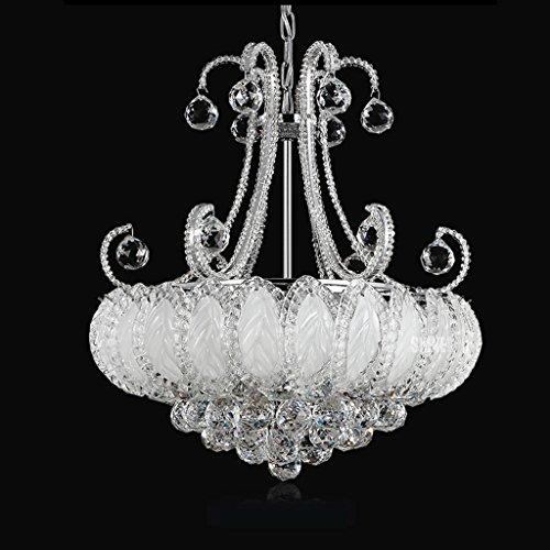 Hmvlw candelabro Habitación Luces de Cristal Lámparas Led Luces de la Sala de Hierro Europea Restaurante Creativo Comedor Lámparas