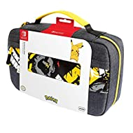 Compatible with Nintendo Switch and Nintendo Switch Lite Semi-hard shell construction with quick-grip carrying handle Separate storage pockets and self-fastening retention straps to keep accessories in place Holds up to 14 game cards with a front zip...