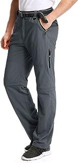 Men's Outdoor Hiking Convertible Quick Dry Pants Elastic Waist Casual Lightweight Fishing Shorts