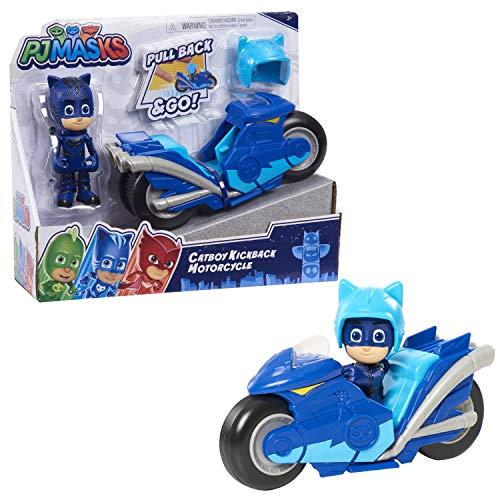 PJ Masks Kickback Motorcycles, Catboy and Vehicle, 2-Piece Figure Set, Multi-Color