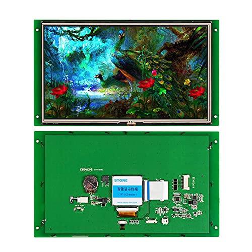 SCBRHMI 10,1 Zoll Smart TFT LCD Bildschirm mit HMI Programmierung, LCD Touch Screen+ LCD Controller Board + UART Schnittstelle+ Metallrahmen