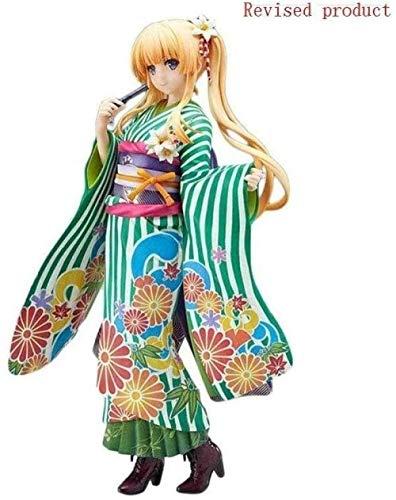 No Anime Cute Girl Eriri Spencer Sawamura Figura de acción Flor Verde Kimono Versión 100% Nuevo en Caja 7.8 Pulgadas