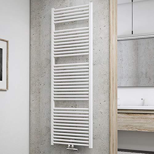 Schulte Badheizkörper München, 177 x 60 cm, 1129 Watt, Mittelanschluss, alpinweiß, Design-Heizkörper, EP18060-M 04