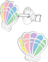 Hypoallergenic Sterling Silver Tropical Beach Vacation Earrings for Kids, Nickel Free