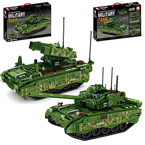 SENG Juego de construcción 2 en 1 de tanque militar, 836 piezas, técnica 99, tipo tanque, bloques de montaje, compatible con Lego