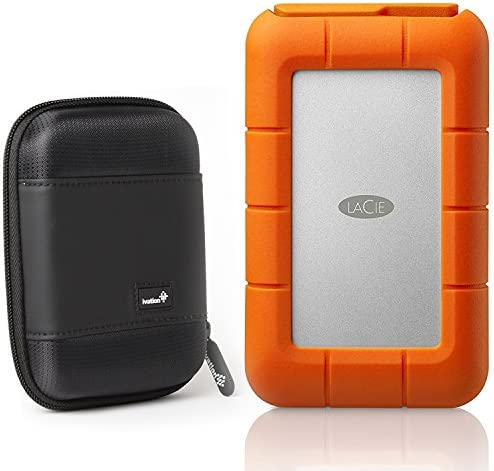 LaCie Rugged Thunderbolt USB C 5TB Portable Hard Drive STFS5000800 and Ivation Compact Portable product image