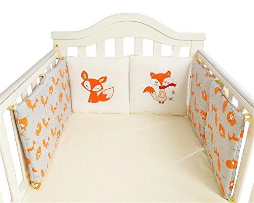 CULASIGN Tour de lit 30 x 30 cm pour lit bébé en Coton Kleiner Fuchs