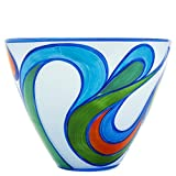 Libera Aztec Centro de Mesa, Cristal de Bohemia, Azul, 25.00x28.00x15.00 cm