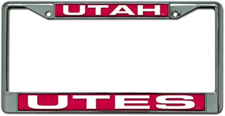Dad of LP Frame Personalized License Plate Frame Vibrant Raised Lettering for US Canada Standard with Free Caps Utah Utes
