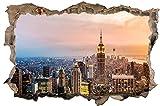 New York Skyline Stadt City USA Wandtattoo Wandsticker Wandaufkleber D0299 Größe 40 cm x 60 cm