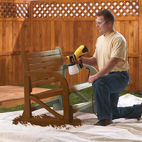 Wagner Spraytech 0417005 HVLP Control Spray Stain Sprayer, Ideal for Decks, Fences, and Latice; Applies thin materials such as stains, sealers, urethanes, varnishes and lacquers