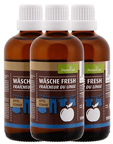 NaturGut tvätt Fresh äpple tvättpåse tvättpåse tvättdoft 100 ml aromen grön äpple 3 x 100 ml sparpaket