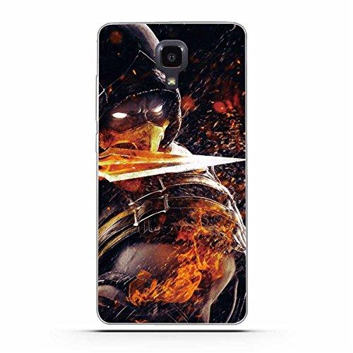 Xiaomi Mi 4 Hülle, Xiaomi Mi4 Hülle, Gift_Source [ Messer Krieger ] Schutz-Hülle Silikon TPU transparent ultra-slim Case Cover ultra-thin durchsichtig für Xiaomi Mi4 M4