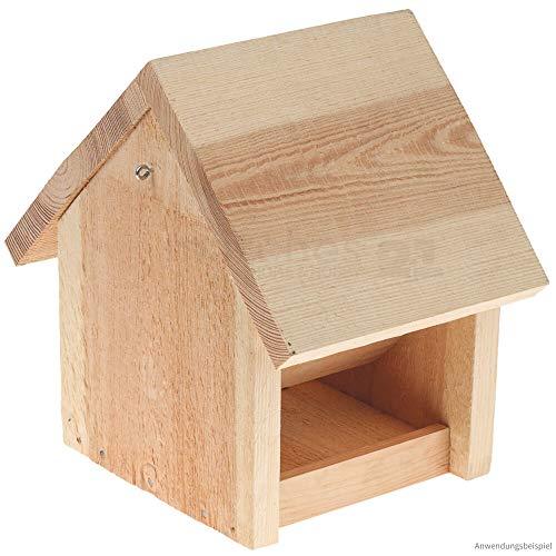 matches21 Vogel Futterhaus Futterstelle mit Futtersilo Vorrat Holz Bausatz für Kinder Werkset Bastelset ab 10 Jahre