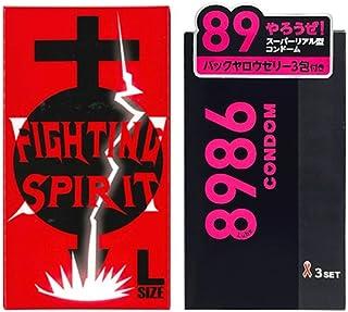 8986(バックヤロー)コンドーム 3セット入 + FIGHTING SPIRIT (ファイティングスピリット) コンドーム Lサイズ 12個入