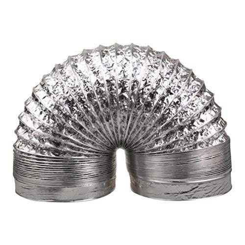 Cabilock Abluftschlauch 160mm 3m Flexschlauch Aluminiumfolie Flexibler Luftschlauch Temperaturbeständigkeit Doppelschicht Belüftung Für Klimaanlagen Wäschetrockner Dunstabzugshaube Zelttrockner