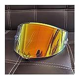 Tokyoo Casco de Motocicletas Sun Visor Goggles Lens Fit para A-G-V Pista GP RR Corsa R GPR 70 Aniversario Visores de Motocicleta Escudo (Color : Aurora Orange)