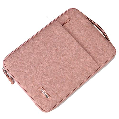 Laptop Sleeve 13-13.3 Inch Case Briefcase,Compatible All Model of 13.3 Inch MacBook Air/Pro,XPS,Surface Book Slim Notebook Sleeve Carrying Bag,Shock Resistant Bag Case with Front Pocket,Pink