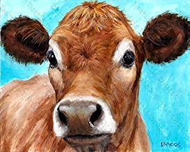 Cows, Jersey Cow, Cow Art, Print of Painting by Dottie Dracos, Watermark NOT on your print