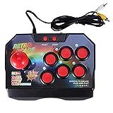 CUHAWUDBA Manette de Jeu D'Arcade Rétro Régulateur de Jeu Console de Manette de Jeu AV Prise avec...