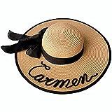 BODELEI Pamela de Playa Personalizada con Nombre Hecho a Mano. Sombrero de Mujer. Despedidas de Soltera.Verano