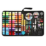 Sewing Kit for Traveler,Best for Beginners,Adults,Starter,Traveller,Professional Sew Kits,DIY Sewing Supplies Organizer Filled with Scissors,Thimble,Thread,Sewing Needles,Tape Measure etc. (L)