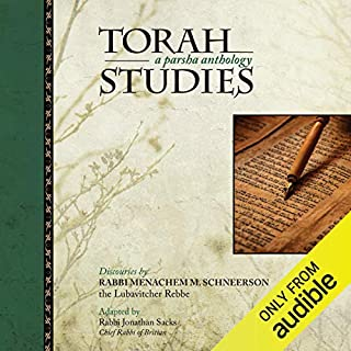 Torah Studies: A Parsha Anthology                   By:                                                                                                                                 Menachem Mendel Schneerson,                                                                                        Rabbi Jonathan Sacks                               Narrated by:                                                                                                                                 Shlomo Zacks                      Length: 9 hrs and 57 mins     58 ratings     Overall 4.6