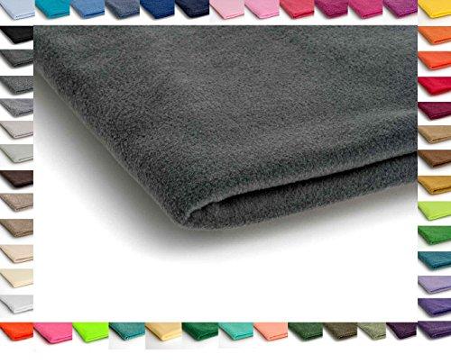 Polar tela de lana, prendas de punto, paño 300 g/m² - Disponible en una variedad de colores - 50 x 160 cm (Gris Oscuro)