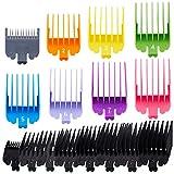 16 Pièces Peignes de Limite Sabot pour Tondeuse Colorée Peignes de Guide de Tondeuse à Cheveux Tondeuse Cheveux Rasoir Accessoire de Coupe de Cheveux (8 Tailles)