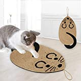 Cat Scratcher Mat Natural Sisal Cat Scratching Pads Hanging Cat Scratcher Scratching Board Non-slip Cat Scratching Rug for Cat Scratching Claws and Sleeping Pad for Protecting Furniture Legs Protector