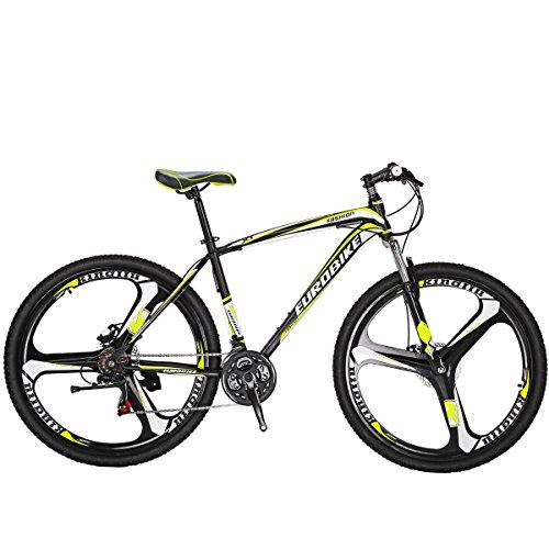 SL Mountain Bike X1 21 Speed bike 27.5 inch 3 spoke bike Dual Suspension Bicycle mountain bike 27.5 (Yellow)