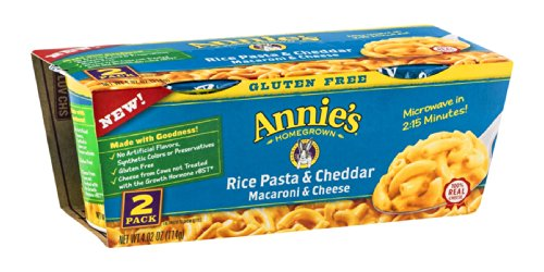 Annies Homegrown Rice Pasta and Cheddar Microwavable Mac and Cheese Cup, 4.02 Ounce - 6 per case