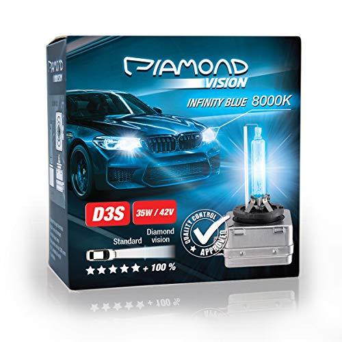 2x D3S 35W 42V 8000K Diamond Vision HID Bi Xenon Brenner Whitevision White Weiß Super Extrem Hell Laser Kit Nightbreaker Extreme Vision Ultra Blue Hyper Duobox Gasentladungslampe PK32d-5