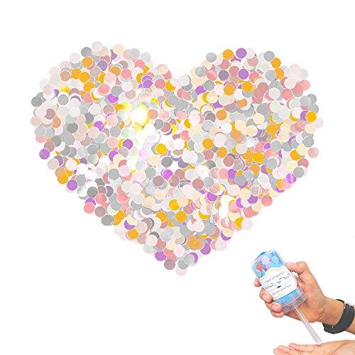 Chingde Konfetti Papier Bunt, 4 Stück Konfetti Papier Pastell Tissue Konfetti Runde Confettis für Geburtstag Hochzeit Valentinstag Ballon Party Tischdeko